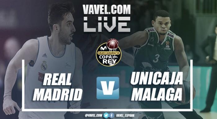 Real Madrid 89-84 Unicaja en vivo y en directo online en cuartos de final Copa del Rey 2018