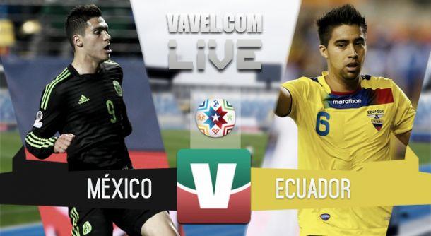 Resultado México - Ecuador en Copa América 2015 (1-2)