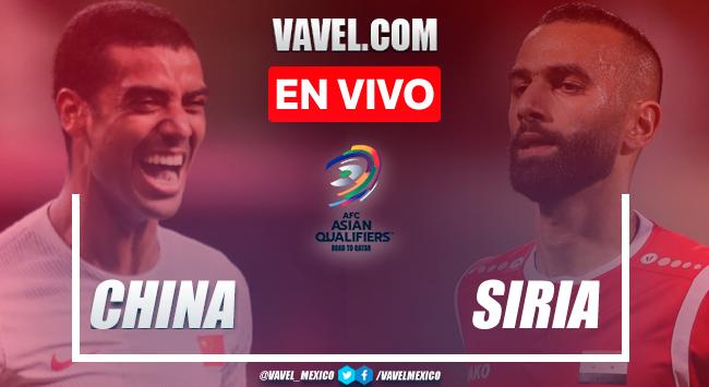 Goles y resumen del China 3-1 Siria en Eliminatoria de la AFC Qatar 2022
