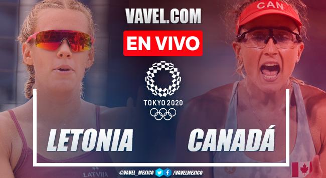 Resumen: Letonia 2-1 Canadá en Cuartos de Final Voleibol de Playa Femenil por Juegos Olímpicos 2020