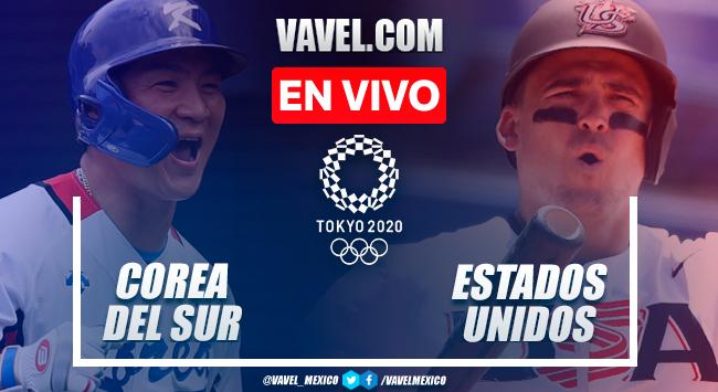 Resumen y carreras: Corea del Sur 2-7 Estados Unidos en Semifinales de Béisbol por Juegos Olímpicos 2020