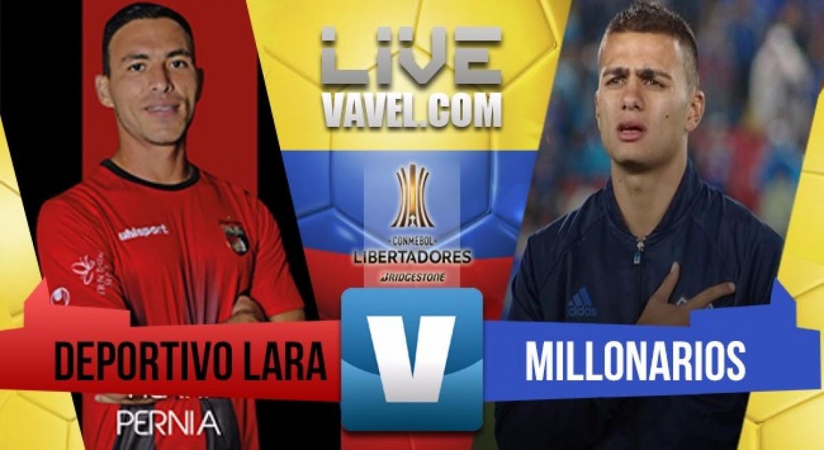 Deportivo Lara derrotó a Millonarios como local por Copa CONMEBOL Libertadores (2-1)