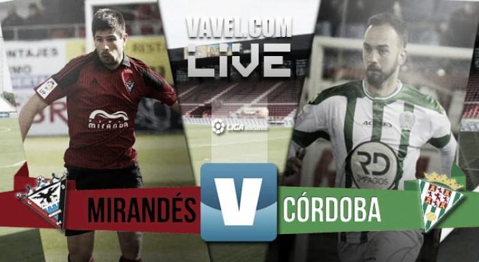 Mirandés - Córdoba en directo online en Segunda 2016 (0-0)