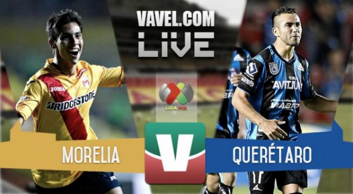 Resultado y goles del Monarcas Morelia vs Querétaro en Liga MX (1-4)