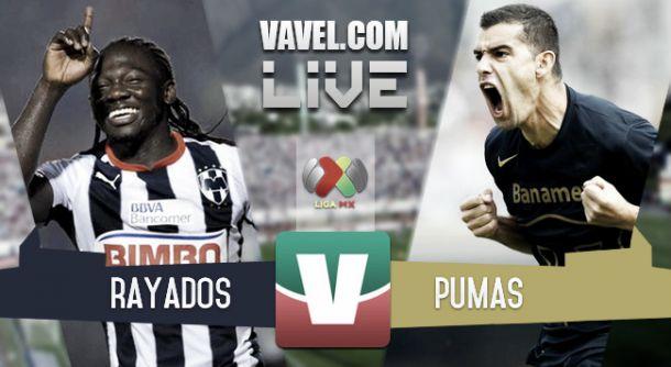 Resultado Monterrey - Pumas en la Liga MX 2015 (2-2)