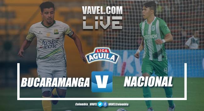 Resultado Bucaramanga vs Atlético Nacional por la Liga Águila 2019-I (0-1)
