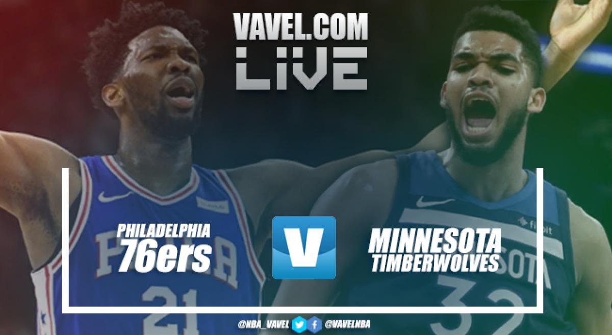 Resumen Philadelphia 76ers vs Minnesota Timberwolves en NBA 2018