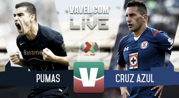 Resultado Pumas - Cruz Azul en Liga MX 2015 (0-1)