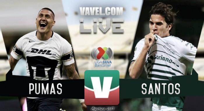 Resultado y goles del Pumas 2-2 Santos Laguna de la Liga MX 2017