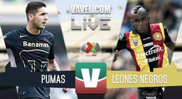 Resultado Pumas - Leones Negros en la Liga MX 2015 (2-0)