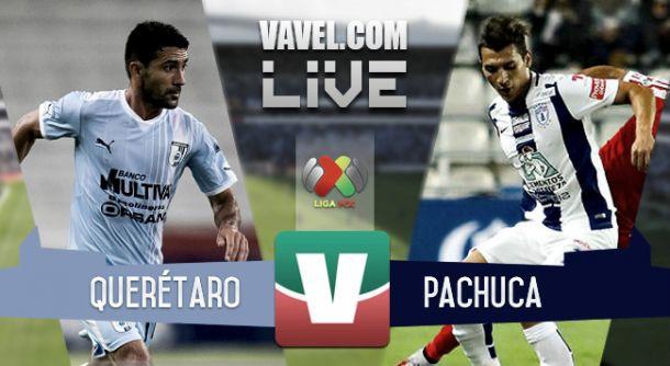 Resultado Gallos Blancos Querétaro - Pachuca en la Liga MX 2015 (1-2)