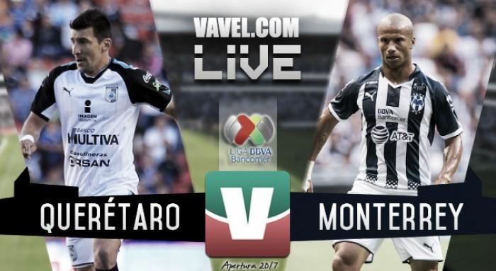 Resultado y Goles de Querétaro (2-2) Monterrey