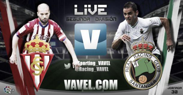 Resultado Sporting de Gijón - Racing de Santander en Segunda División (3-1)