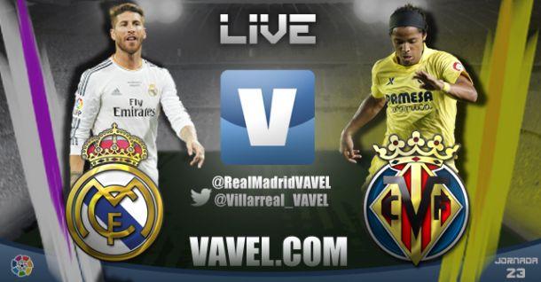 Resultado Real Madrid - Villarreal en la Liga BBVA 2014 (4-2)