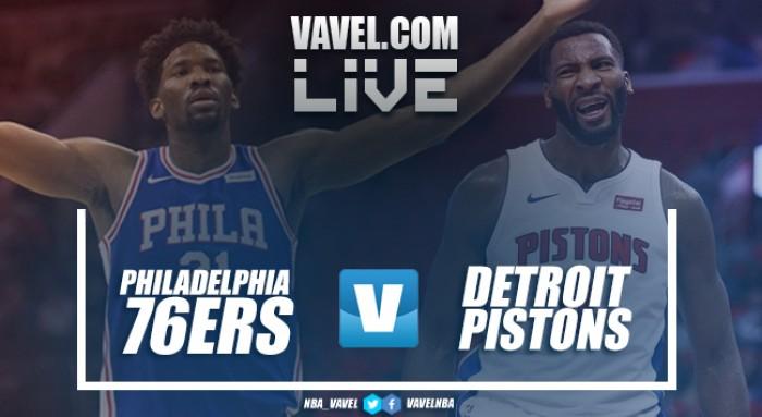 Resumen Philadelphia 76ers 108-103 Detroit Pistons en NBA 2017/18