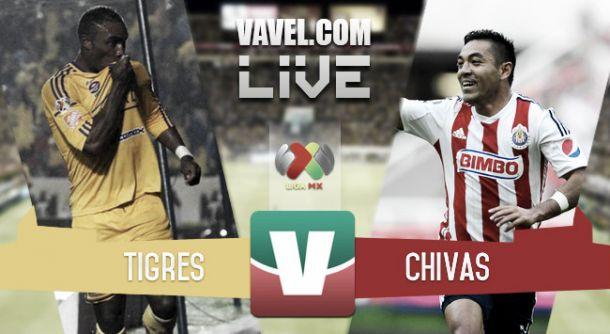 Resultado Tigres - Chivas 2015 en Liga MX (2-1)