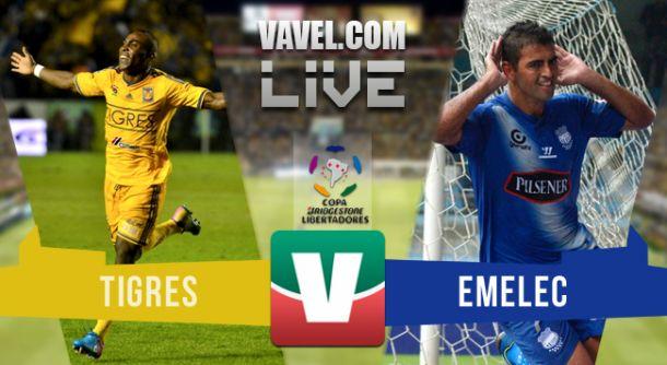 Resultado Tigres - Emelec en Copa Libertadores 2015 (2-0)