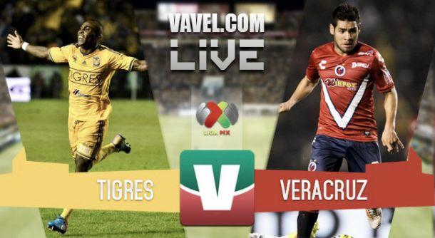 Resultado Tigres - Veracruz en la Liga MX 2015 (3-1)