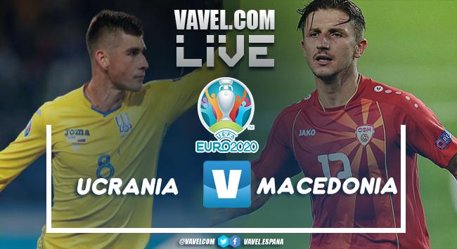 Resumen del Ucrania vs Macedonia del Norte en la Eurocopa 2020 (2-1)