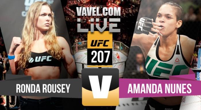 Luta Amanda Nunes vs Ronda Rousey na UFC 207