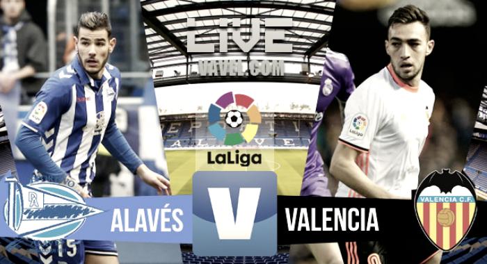 Alavés vs Valencia en vivo y en directo online en La Liga 2017 (0-0)