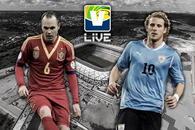 Espanha - Uruguai, assim acompanhamos