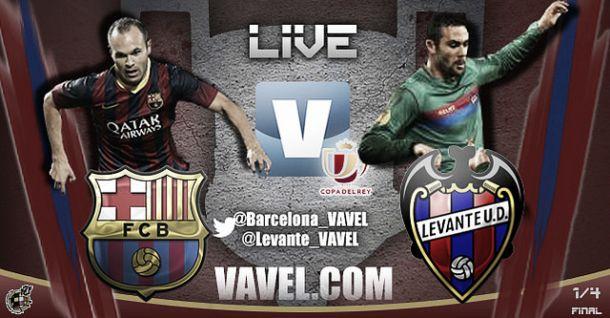 Barcelona vs Levante, Copa del Rey  en directo