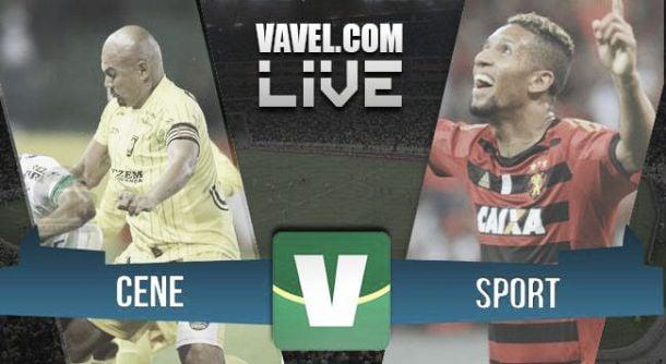 Jogo CENE x Sport   pela Copa do Brasil 2015