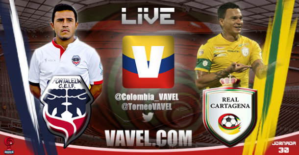 Resultado Fortaleza - Real Cartagena por el Torneo Águila 2015 (1-0)