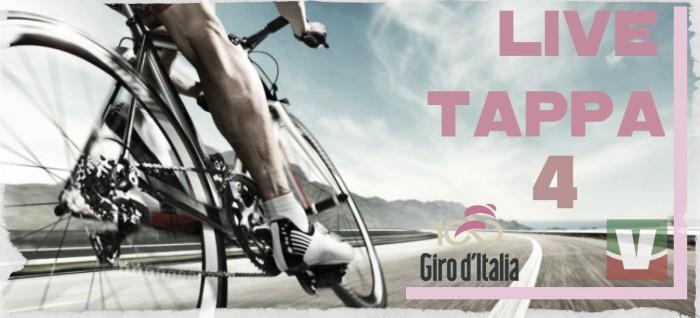 Risultato 4° tappa Cefalù - Etna del Giro d'Italia 2017: vince Polanc, Jungels in rosa