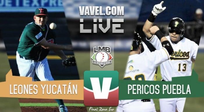 Leones Yucatán vs Pericos Puebla suspendido por lluvia (0-1)