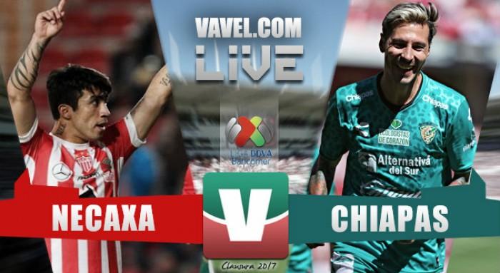 Resultado y goles del Necaxa 2-2 Chiapas de la Liga MX 2017