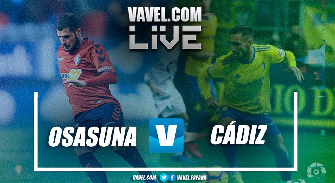 Resumen Osasuna vs Cádiz en LaLiga 1|2|3 2019 (2-1)