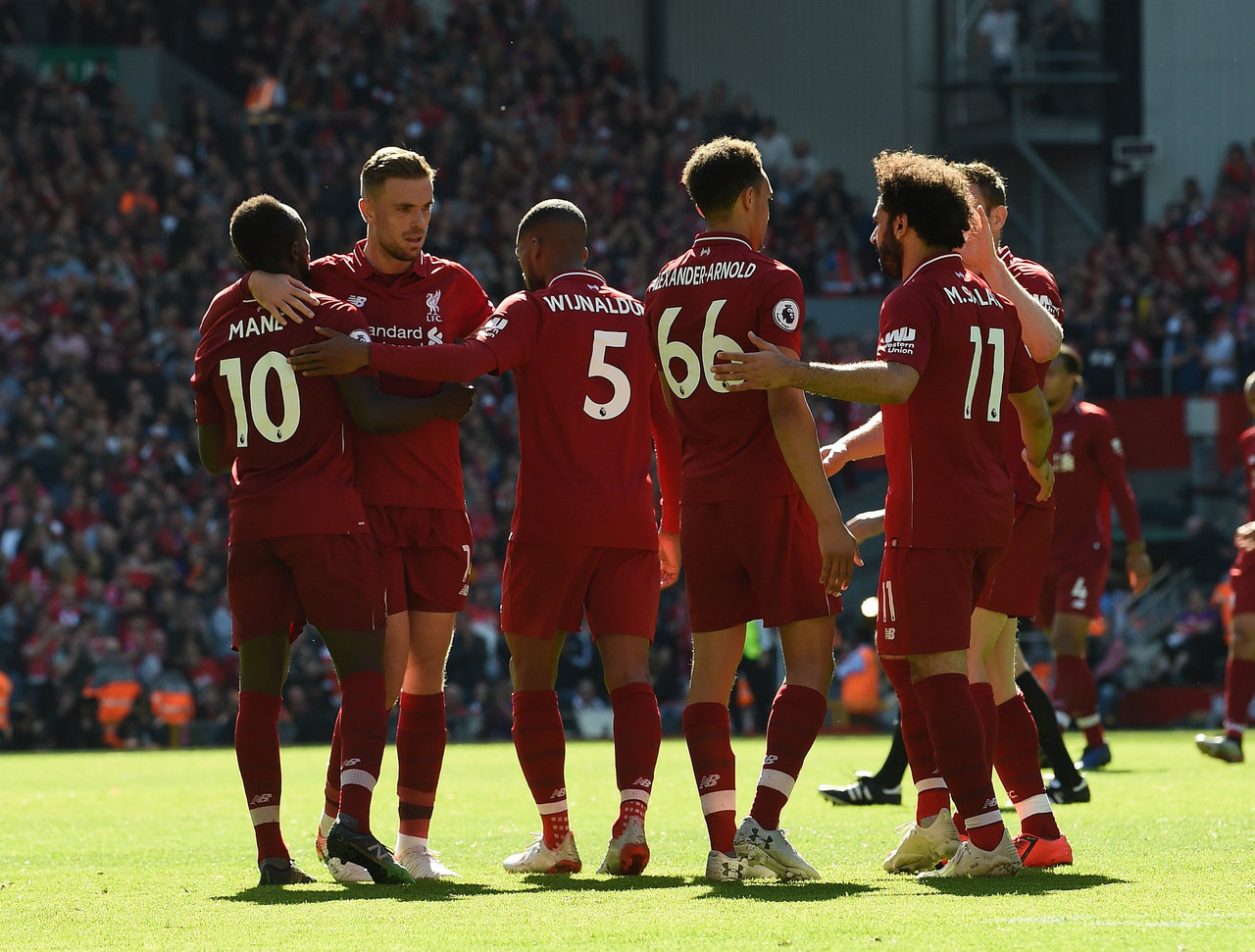 Liverpool 2-0 Wolves: Mane double secures win but 29 year wait for league title goes on
