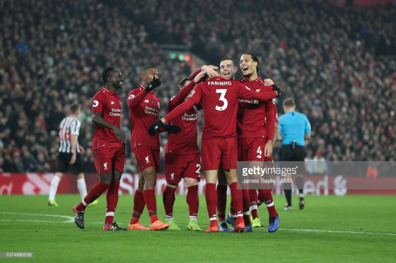 Liverpool 4-0 Newcastle United: Reds thrash Magpies to extend six-point lead at the top
