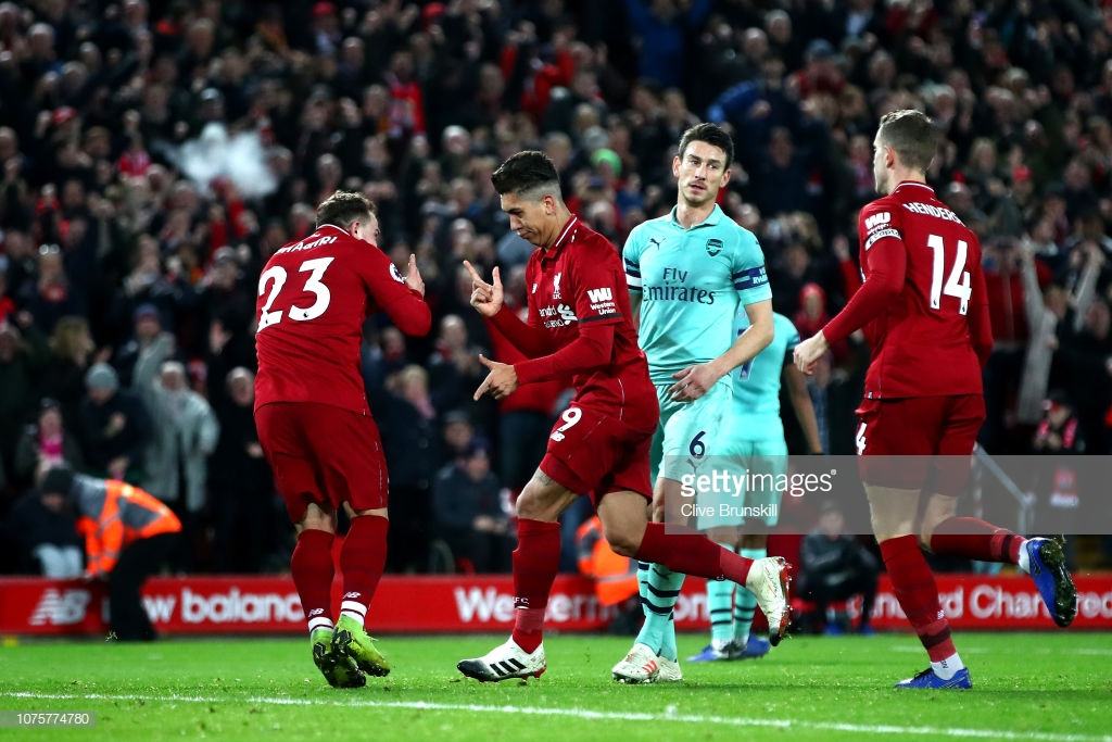 As it happened: Liverpool thrash Arsenal to go nine points clear