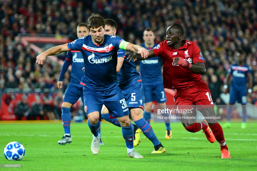 Liverpool 4-0 Red Star Belgrade: Fearsome front three all amongst goals as Reds top group