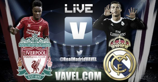 Live Liverpool - Real Madrid in Champions League
