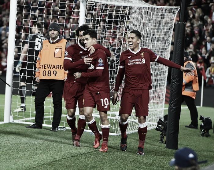 Coutinho brilha, Liverpool goleia Spartak e retorna às oitavas da Champions após nove temporadas