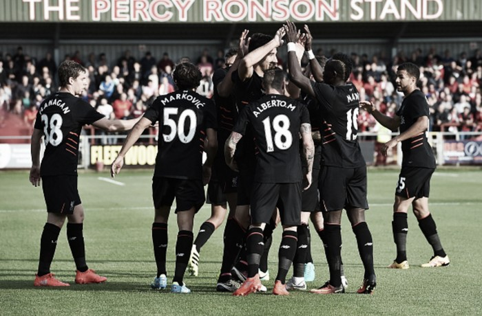Fleetwood Town 0-5 Liverpool: Reds hammer five past League One opponents in routine pre-season win
