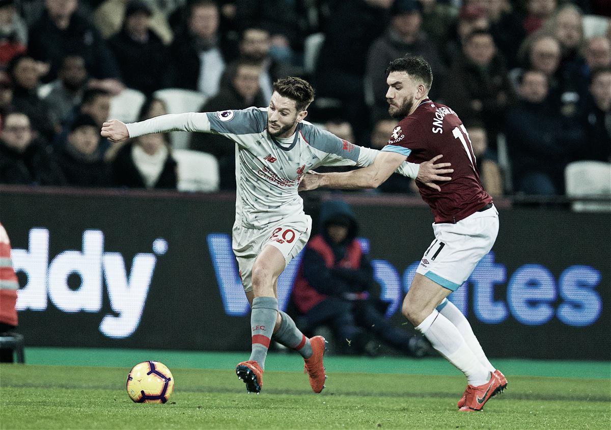 Liverpool empata com West Ham e vê liderança da Premier League ameaçada
