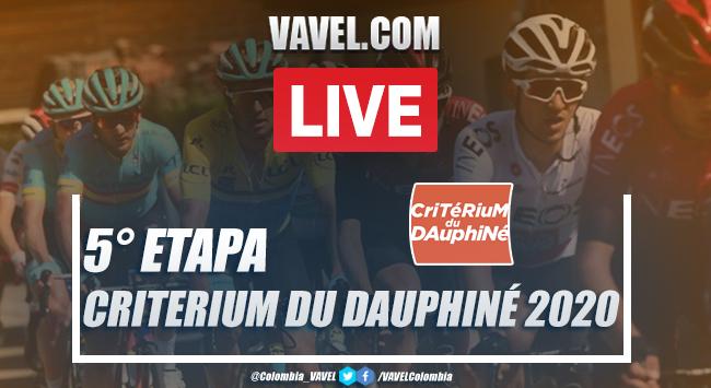 Resumen etapa 5 del Critérium du Dauphiné: Daniel Martínez, campeón