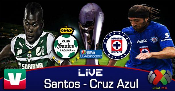 Resultado Santos - Cruz Azul en Liga MX 2014 (1-1)