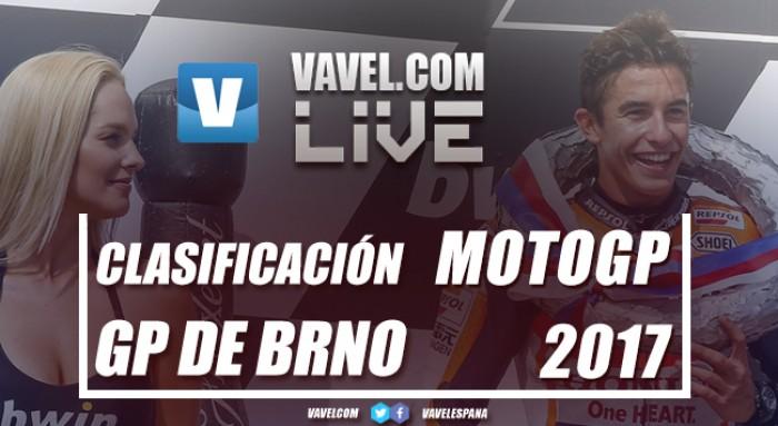 Márquez reina en Brno, Rossi se cuela segundo y Pedrosa sorprende