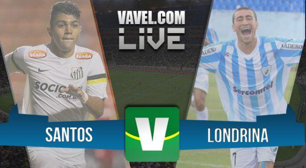 Resultado de Santos x Londrina pela Copa do Brasil 2015