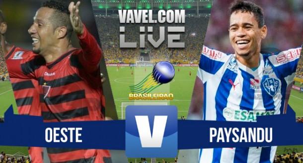 Resultado Oeste x Paysandu no Brasileirão Série B 2015 (0-0)