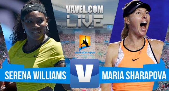Resultado Serena Williams x Maria Sharapova no Australian Open 2016 (2-0)