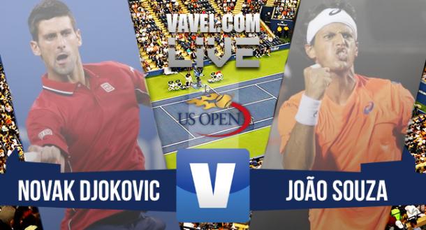 Novak Djokovic x João Souza 'Feijão' no US Open 2015