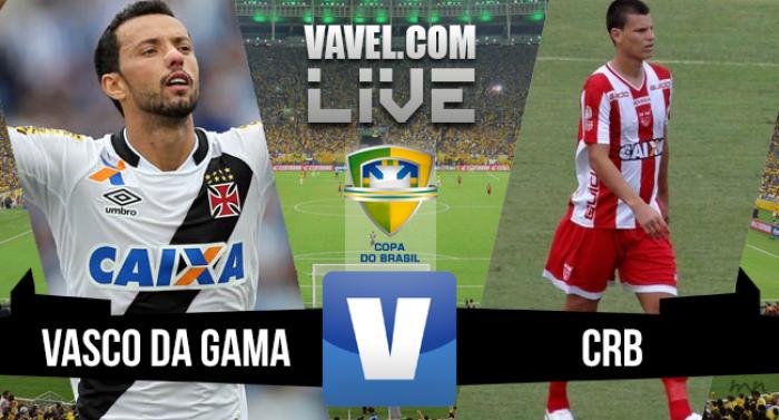 Resultado Vasco x CRB na Copa do Brasil 2016 (1-1)
