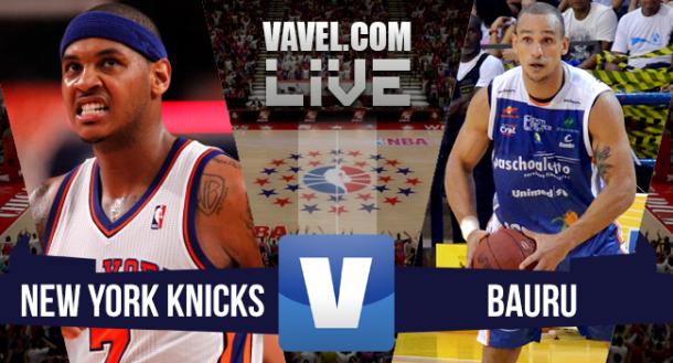 Resultado New York Knicks x Bauru  no amistoso de pré-temporada da NBA (100-81)